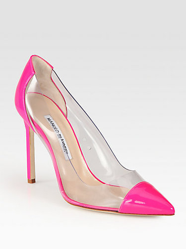 Manolo Blahnik Pacha Translucent Patent Leather Pumps