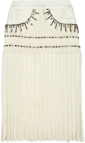 Alberta Ferretti Gonna embellished silk skirt