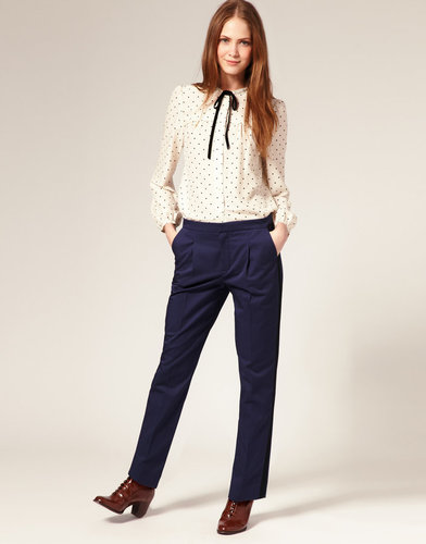 Boutique By Jaeger Cotton Tuxedo Pants