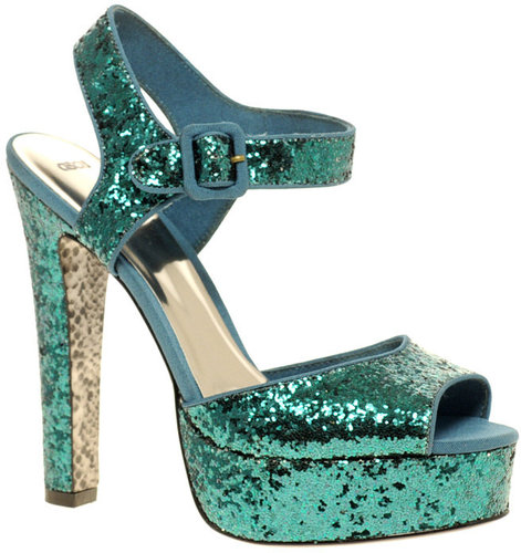 ASOS HYSTERIC Glitter Platform High Sandals
