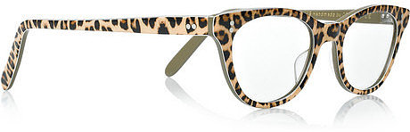 Cutler and Gross Leopard-print acetate optical glasses