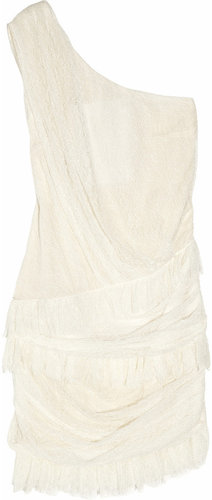 Jay Ahr Lace one-shoulder dress