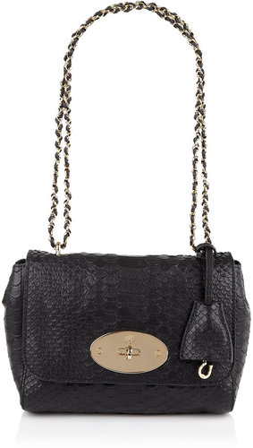Mulberry Black Lily With Chain Strap
