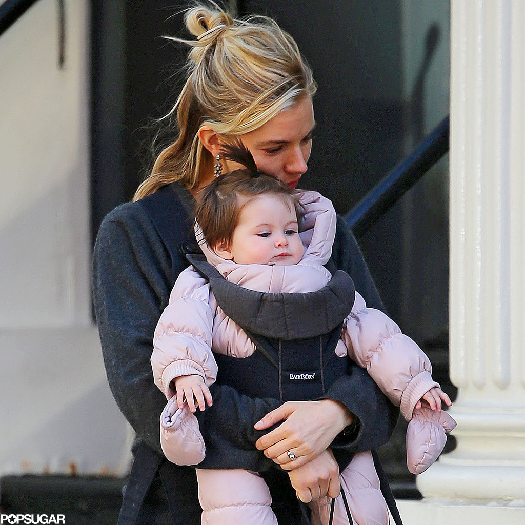 Sienna Miller hugged Marlowe Sturridge on their outing.