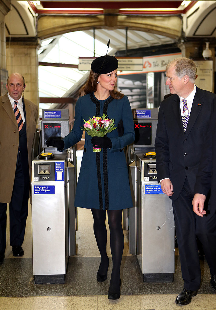 Kate Middleton entered the subway in London.