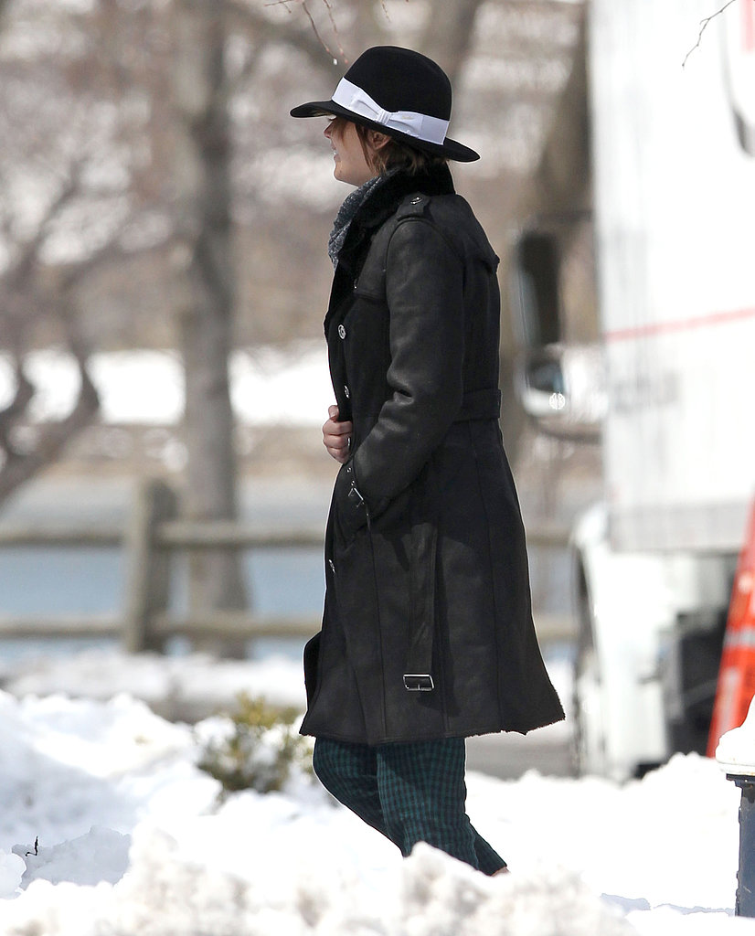 Jennifer Lawrence Pops Up on a Snowy Set in Boston