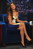 Selena Gomez had a laugh on Late Night With Jimmy Fallon.