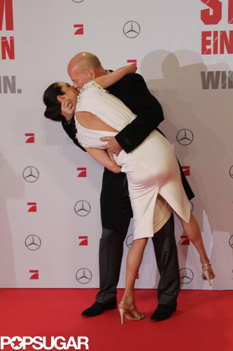 Bruce Willis swept Emma Heming off her feet in Germany in February 2013.