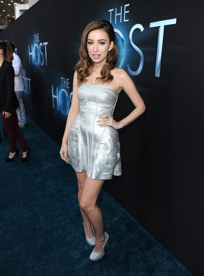 Christian Serratos wore a metallic minidress.