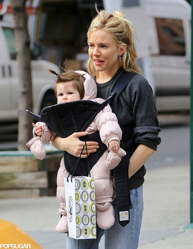 sienna miller holding baby marlowe in nyc pictures