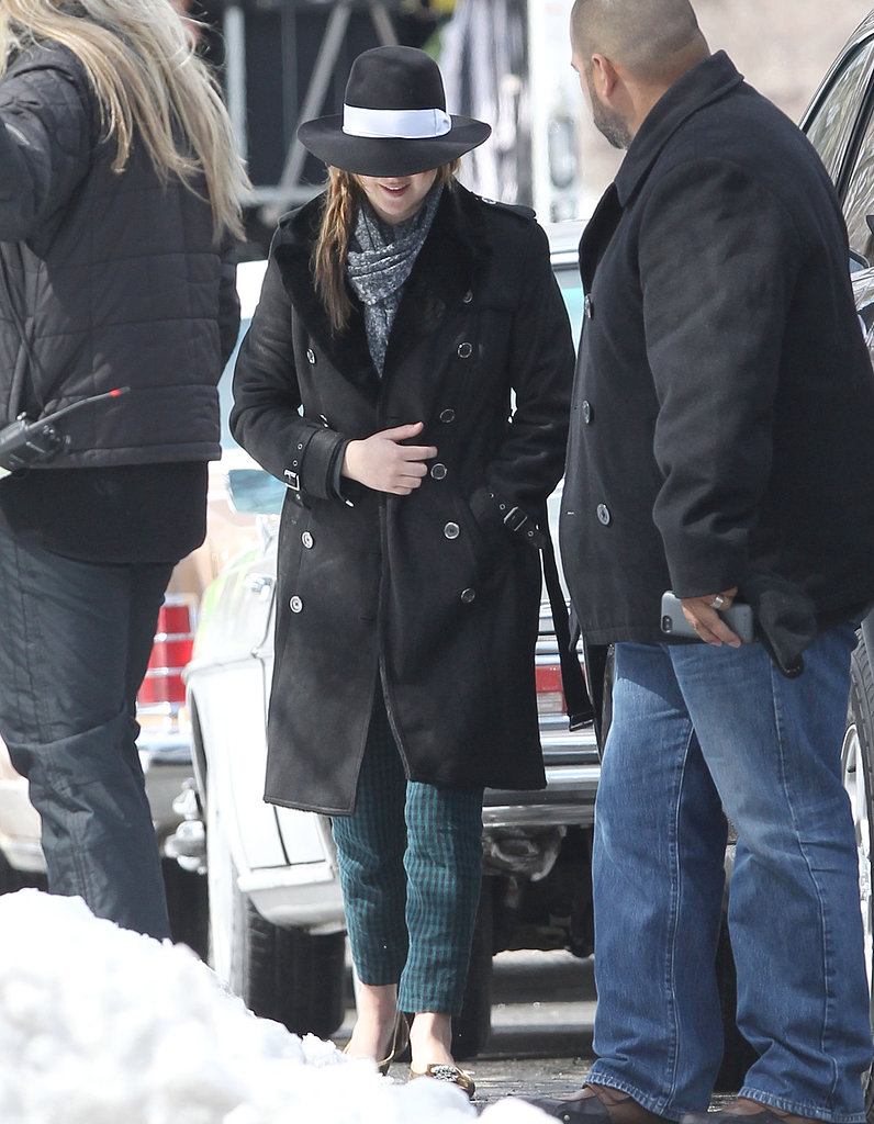 Jennifer Lawrence popped up on a snowy set in Boston.