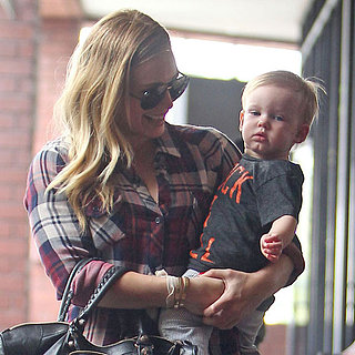 Hilary Duff Takes Birthday Boy Luca to Class in LA