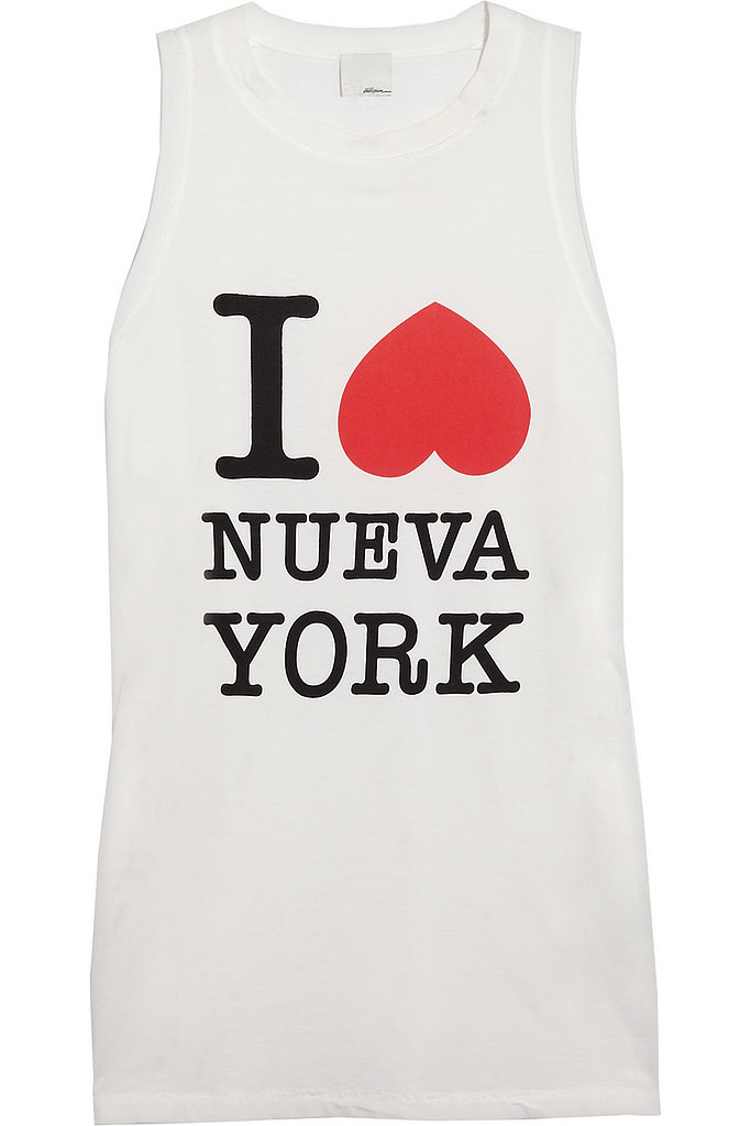 This 3.1 Phillip Lim I Heart Nueva York tank ($115) is still a bit of an investment, but we see ourselves wearing it all Summer long . . .