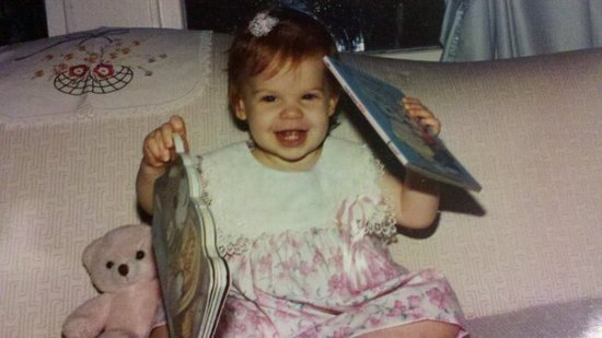 """The photo was taken in 1991 when my mom was reading to me. Apparently I really enjoyed the books that played songs!"" —  Jennifer Michalski, editorial intern, POPSUGAR"