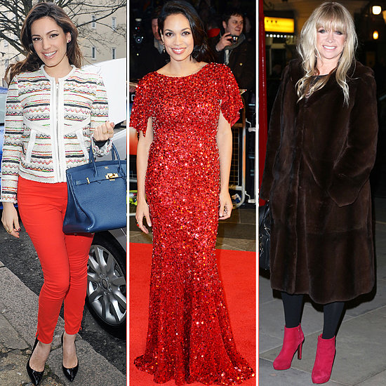 Rosario Dawson, Kelly Brook and Jo Wood Wear Red