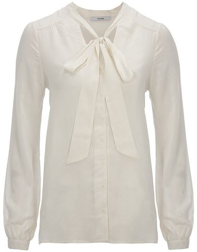 Bow Trim Blouse