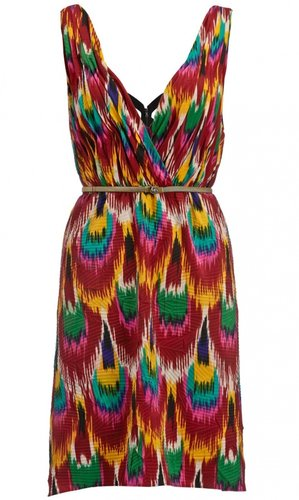 Alice + Olivia Alameda Printed Pleat Dress