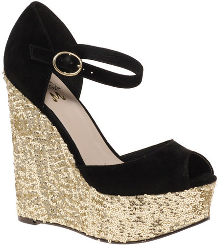 Miss KG Tatiana Glitter Platform Wedges