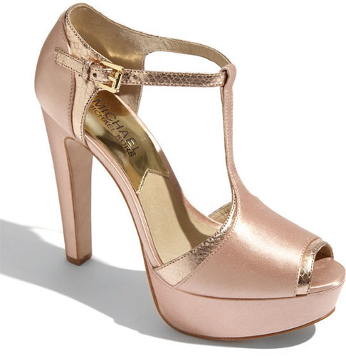 MICHAEL Michael Kors &#039;Sophia&#039; Satin T-Strap Pump