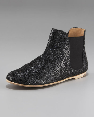 Pedro Garcia Slip-On Glitter Ankle Boot