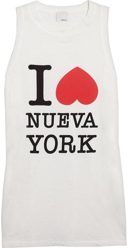 3.1 Phillip Lim I Heart Nueva York cotton-jersey tank