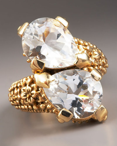 Stephen Dweck Clear Crystal Bypass Ring