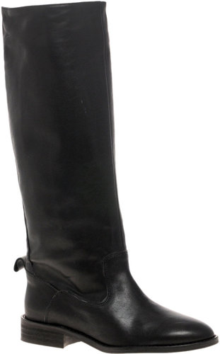 dico Copenhagen Leather Flat Over The Knee Boot