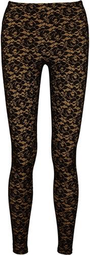Norma Kamali Stretch-lace leggings