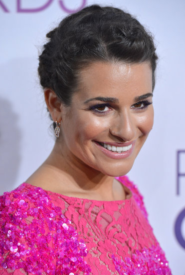 Lea Michele's multiple braids are a fun and intricate way to keep your hair off your neck in warmer temps.