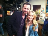 Boy Meets World original cast member Rider Strong popped by for a set visit to Girl Meets World and posed with the show's young star, Sabrina Carpenter. Source: Twitter user SabrinaAnnLynn