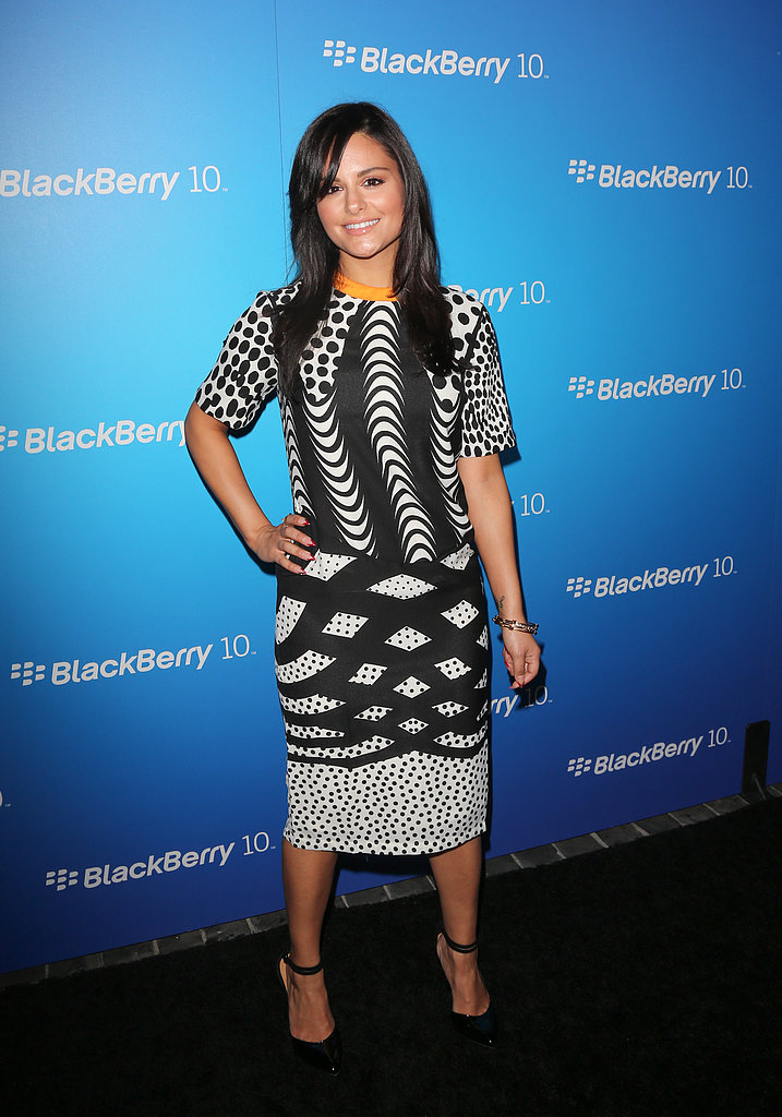 Pia Toscano wore a printed frock.