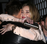 Rosie Huntington-Whiteley hugged Josh Duhamel.
