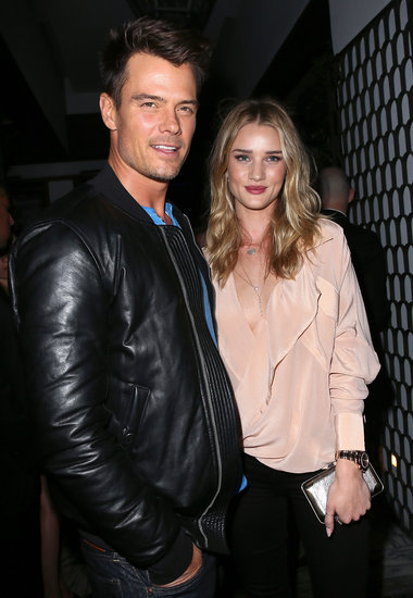 Rosie Huntington-Whiteley met up with Josh Duhamel at the event.