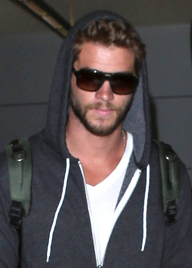 Liam Hemsworth wore an American Apparel hoodie.