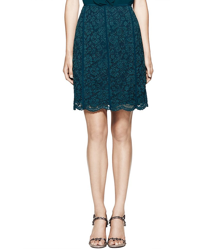 We love the dark teal hue on Tory Burch's Everett lace skirt ($140, originally $350).