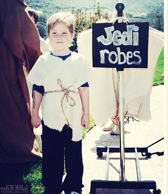 Our DIY Jedi robes.