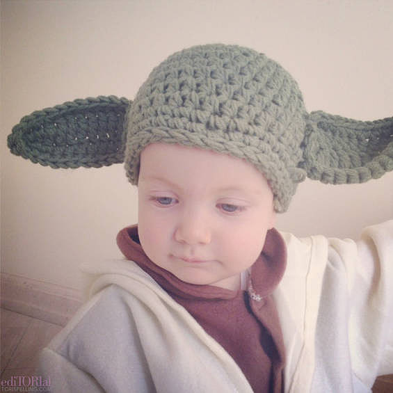 Hattie made the perfect Yoda.