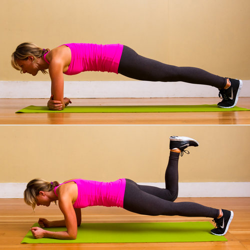 How to Do a Plank With a Kick