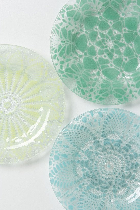 Thanks to a doily-inspired pattern and pastel shades, it's double the delicate factor with these frosted dessert plates ($24).