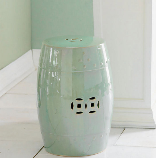 This pale green garden stool ($129) would make for a chic side table, seat, or ottoman.