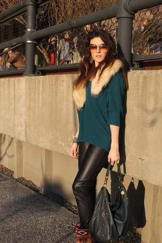 Casually Styled Leather Look
