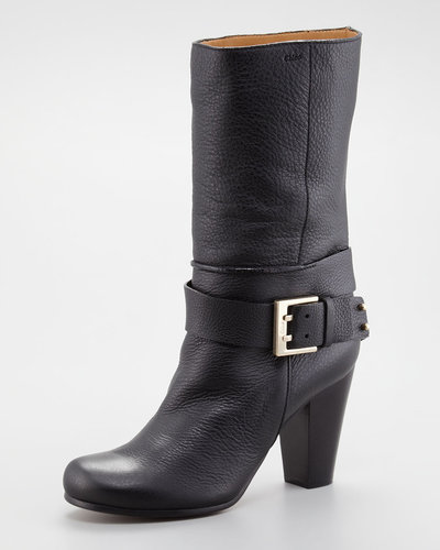 Chloe Buckled Ankle-Wrap Boot