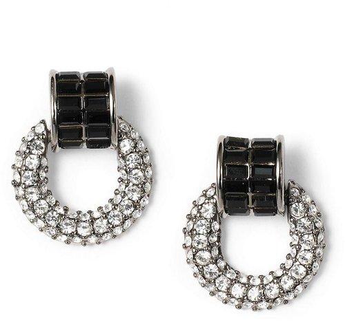 Crystal Pave Doorknocker Earrings