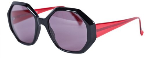 Michel Klein Georgia Black and Red Sunglasses