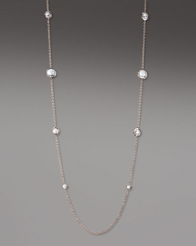 "Ippolita Rose Gold & Quartz Station Necklace, 37""L"