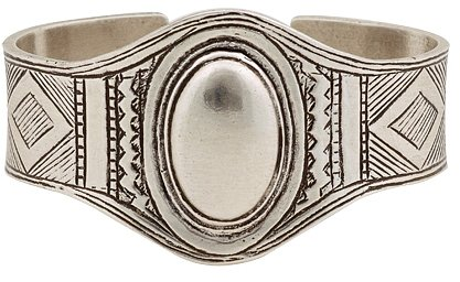 Low Luv - Afghani Engraved Cuff Bracelet - Silver Plated