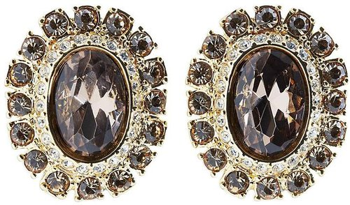 Goldwash Crystal Pave Clip Earrings