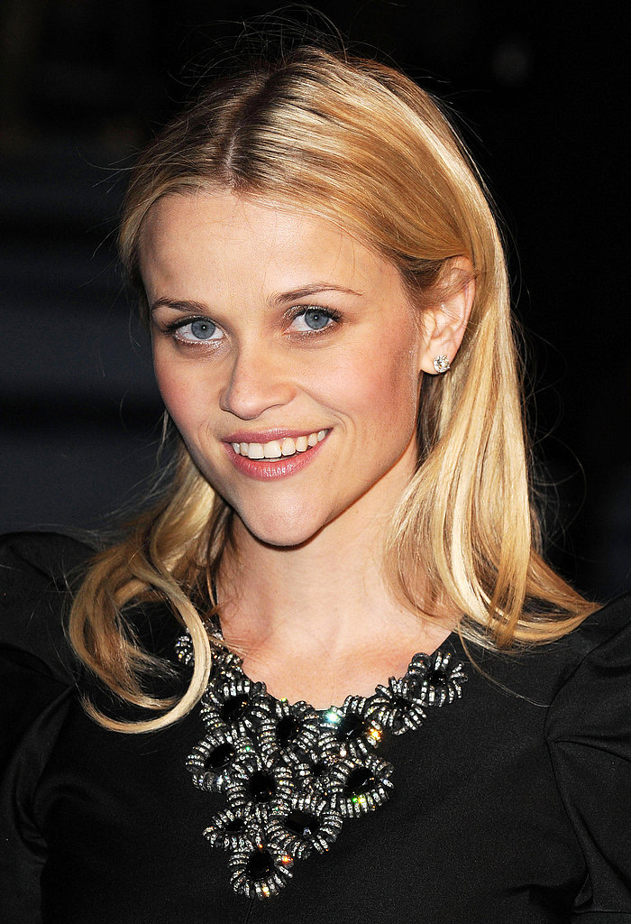 A year later, Reese was back to growing out her blond hair. At the 2009 Monsters vs. Aliens UK premiere, the star went with a center-parted look that was tucked behind the ears.