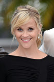 Reese was at the Cannes Film Festival in 2012 promoting her film Mud. She wore her long bangs to the side with a textured ponytail and natural-looking makeup.
