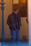 George Clooney was on the set of The Monuments Men at Palais am Festungsgraben in Berlin on Wednesday.